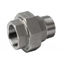 Coupling 3-piece stainless steel Bi-Bu conical