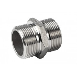 Double nipple stainless steel 316