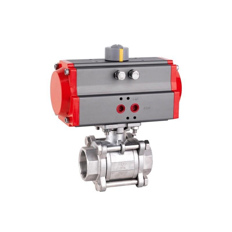 XY Electron threaded ball valve with actuator, 3 pcs.